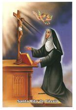 Santinhos de Oração Santa Rita de Cássia