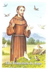 Imagem - Santinhos de Oração São Francisco de Assis - 17659852