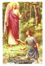 Santinhos de Oração São Rafael Arcanjo