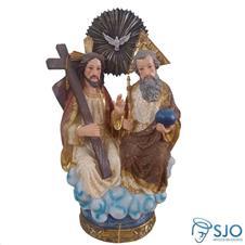 Imagem de resina Santíssima Trindade Dourada - 40 cm