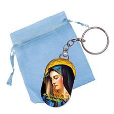 Imagem - Chaveiro Chapinha com Saquinho - Nossa Senhora das Dores cód: CCSNSD