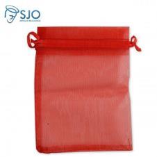25 Saquinhos de Organza 8 x 12 - Vermelho