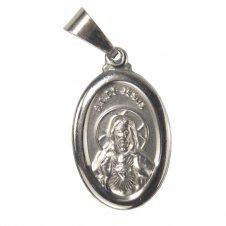 Imagem - Medalha Oval de Inox do Sagrado Coração de Jesus cód: 16244428