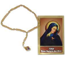 Imagem - Terço com folheto Nossa Senhora das Dores - 15394821