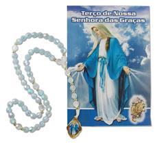 Imagem - Terço com folheto de Nossa Senhora das Graças - 13415703