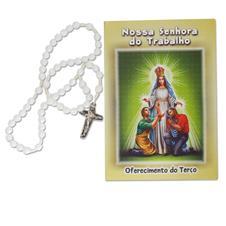 Imagem - Terço com folheto Nossa Senhora do Trabalho cód: 15290496