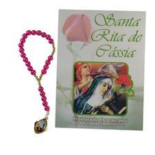 Imagem - Terço com folheto Santa Rita  cód: 14144413