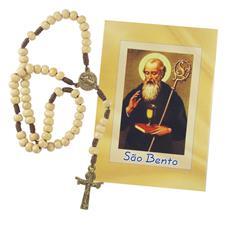 Imagem - Terço com folheto de São Bento  - 14218930