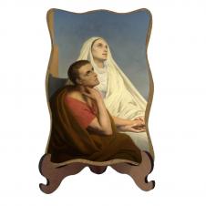 Imagem - Porta-Retrato Santa Mônica e São Agostinho - Modelo 1 cód: 12295591