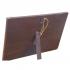 Porta-Retrato de Madeira Pergaminho Branco com Fundo Santa Ceia - Modelo 2 - 14 cm 2