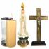 Combo Tradicional Nossa Senhora de Fátima de resina de 17 cm