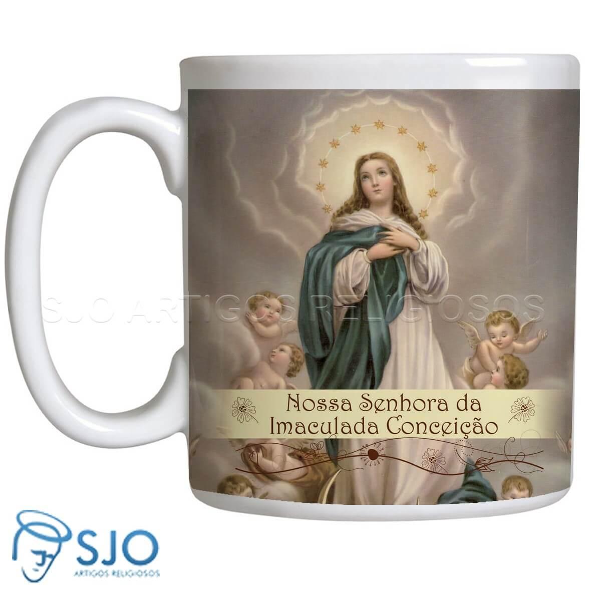 654126172 Caneca Nossa Senhora da Imaculada Conceição