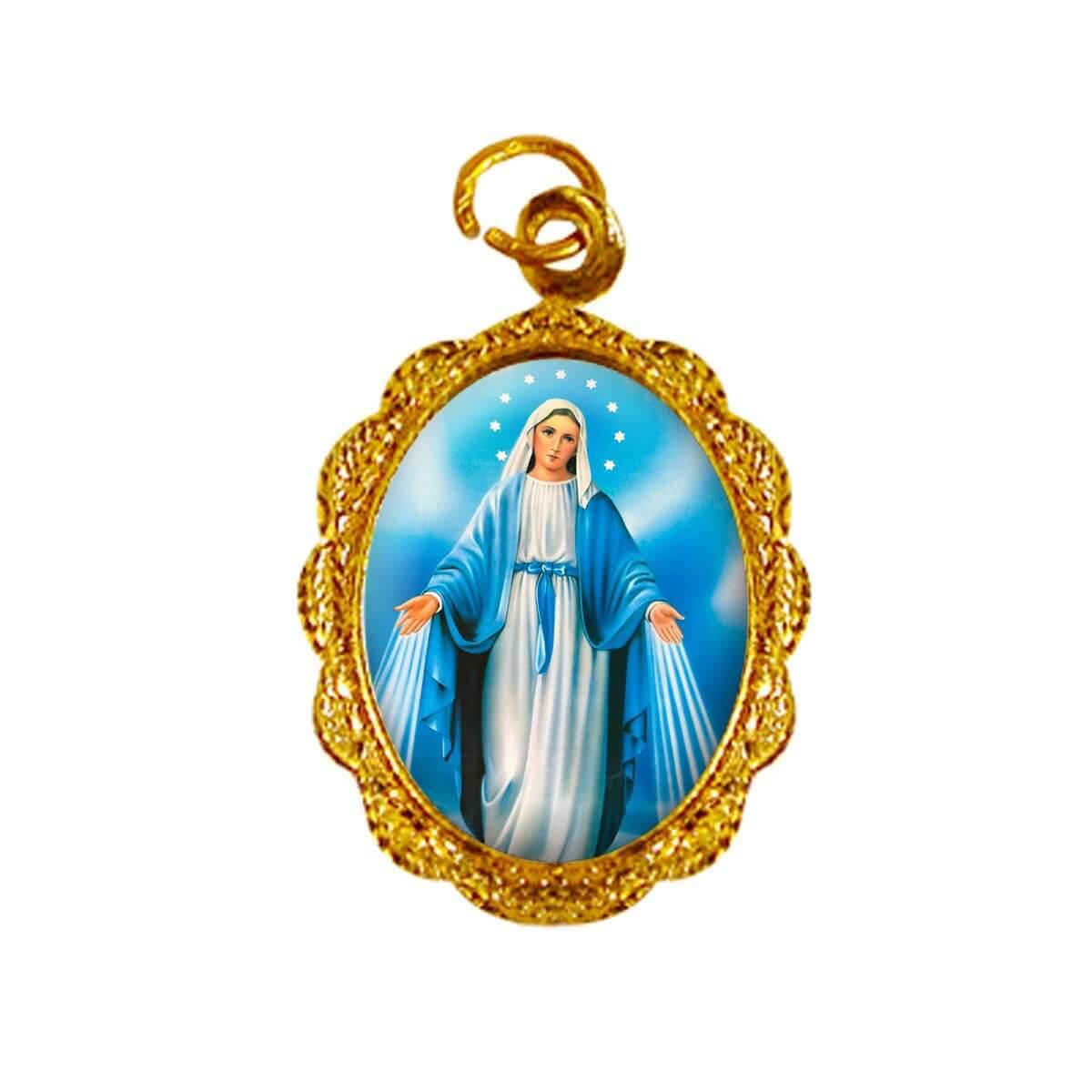 6b29a59fb Medalha de Alumínio - Nossa Senhora das Graças - Mod. 2