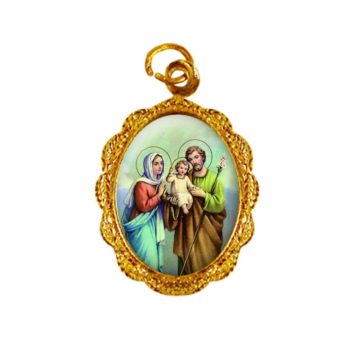 Medalha de Alumínio - Sagrada Família - Mod. 01   SJO Artigos Religiosos c31efe293e