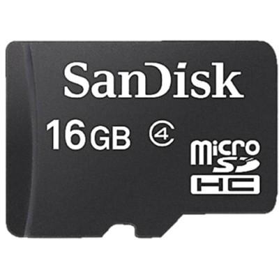 Cartão de Memória Micro SD Sandisk 16GB c/ Adaptador - Classe 4