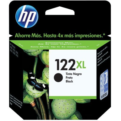 Cartucho HP 122XL Preto 8,8ml - CX 1 Unid