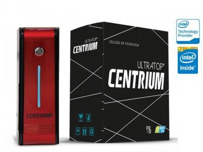 Computador Desktop Intel Centrium Ultratop Intel Dual Core J1800 2.41Ghz 4Gb 500Gb Serial Vermelho