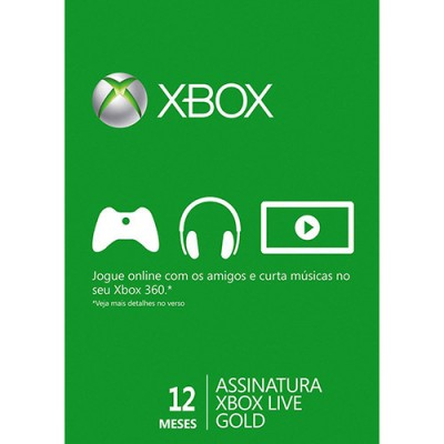 Game Microsoft  12 Month Gold Card Xbox Live - 52M-00473