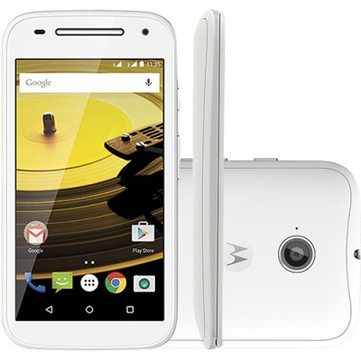 Smartphone Motorola Moto E 2ª Geração XT1506 8GB Quad Core 1,2Ghz Dual Chip Cam 5.0 MP WiFi 4G 4.5