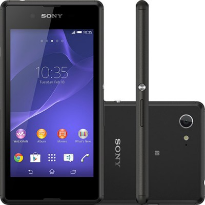 Smartphone Sony Xperia E3 D2212 4GB Quad Core 1,2Ghz Dual Chip Cam 5MP WiFi 4.5