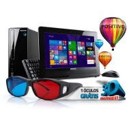 Computador Positivo Intel Dual Core 15.6 Polegadas 2Gb Hd 500 Windows 8 - 1000907