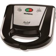 Sanduicheira E Grill Mondial Mac Grill Inox - S11 - 3180-01