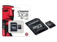 Cartao De Memoria Classe 10 Kingston Micro Sdhc 32Gb Com Adaptador Sd Android SDC10G2/32GB