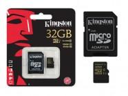 Cartao De Memoria Classe 10 Kingston Micro Sdhc 32Gb Com Adaptador Sd Uhs-I SDCA10/32GB