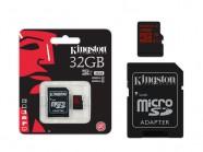 Cartao De Memoria Classe 10 Kingston Micro Sdhc 32Gb Uhs-I U3 Com Adaptador Sd SDCA3/32GB