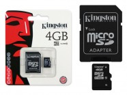 Cartao De Memoria Classe 10 Kingston Micro Sdhc 4Gb Com Adaptador Sd SDC10/4GB