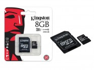 Cartao De Memoria Classe 10 Kingston Micro Sdhc 8Gb Com Adaptador Sd SDC10G2/8GB