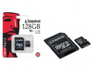 Cartao De Memoria Classe 10 Kingston Micro Sdxc 128Gb Com Adaptador Sd SDC10G2/128GB