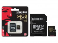 Cartao De Memoria Classe 10 Kingston Micro Sdxc 64Gb Com Adaptador Sd Uhs-I SDCA10/64GB