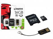Cartao De Memoria Classe 10 Kingston Multikit 16Gb Micro Sdhc+Adaptador MBLY10G2/16GB