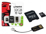 Cartao De Memoria Classe 10 Kingston Multikit 32Gb Micro Sdhc+Adaptador MBLY10G2/32GB