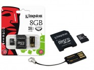 Cartao De Memoria Classe 10 Kingston Multikit 8Gb Micro Sdhc+Adaptador MBLY10G2/8GB