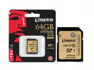 Cartao De Memoria Classe 10 Kingston Secure Digital Ultimate Sdxc 64Gb Uhs-I SDA10/64GB