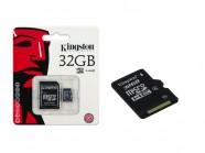 Cartao De Memoria Classe 4 Kingston Micro Sdhc 32Gb Com Adaptador Sd SDC4/32GB
