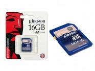 Cartao De Memoria Classe 4 Kingston Secure Digital 16Gb SD4/16GB