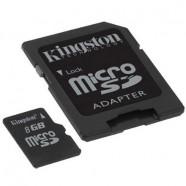 Cartão de Memória Kingston 8GB MicroSDHC c/ Adaptador SD - Casse 4