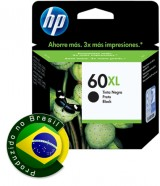 Cartucho De Tinta Hp Suprimentos Cc641Wb Hp 60Xl Preto 13,5Ml