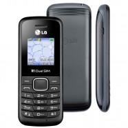 """Celular Desbloqueado LG B220 Preto Dual Chip Rádio FM Display Colorido de 1.45"""" Super Lanterna"""