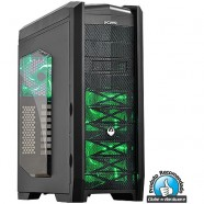 Gabinete PCYes Gamer Dragon Led Verde- 21496