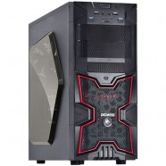 Gabinete PCYes Gamer Fox Mid Tower S/ Fonte 01 Fan Led Verm 01 Fan Tras Ed Limitada- 22600