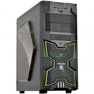 Gabinete PCYes Gamer Fox Mid Tower S/ Fonte C/ 01 Fan Led Verde Frontal E 01 Fan Traseiro- 21499
