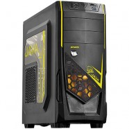 Gabinete PCYes Gamer Java Mid Tower S/ Fonte C/ 01 Fan Led Amarelo Frontal E 01 Fan Traseiro - 21498