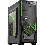 Gabinete PCYes Gamer Java Mid Tower S/ Fonte C/ 01 Fan Led Verde Frontal E 01 Fan Traseiro - 21497