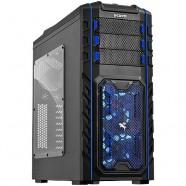 Gabinete PCYes Gamer Pegasus Mid Tower S/ Fonte C/ 02 Fans Led Azul Frontal E 01 Fan Traseiro- 21500