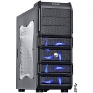Gabinete PCYes Gamer Rhino Mid-Tower Preto 3 Fans 120 Mm Led Azul- 18632