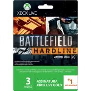 Game Microsoft 3 Month Gold Battlefield Hardline Xbox Live - 52K-00229